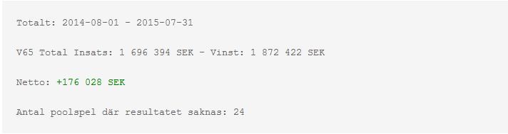 v65-10 000 rader